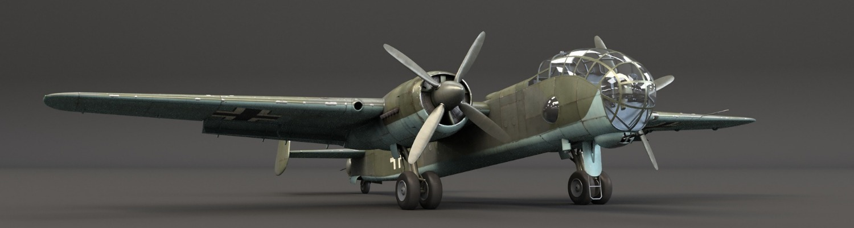 JU 288C Plane bg