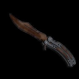 ★ StatTrak™ Butterfly Knife | Rust Coat Logo