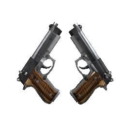 Dual Berettas | Black Limba Logo