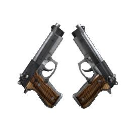 StatTrak™ Dual Berettas | Black Limba Logo