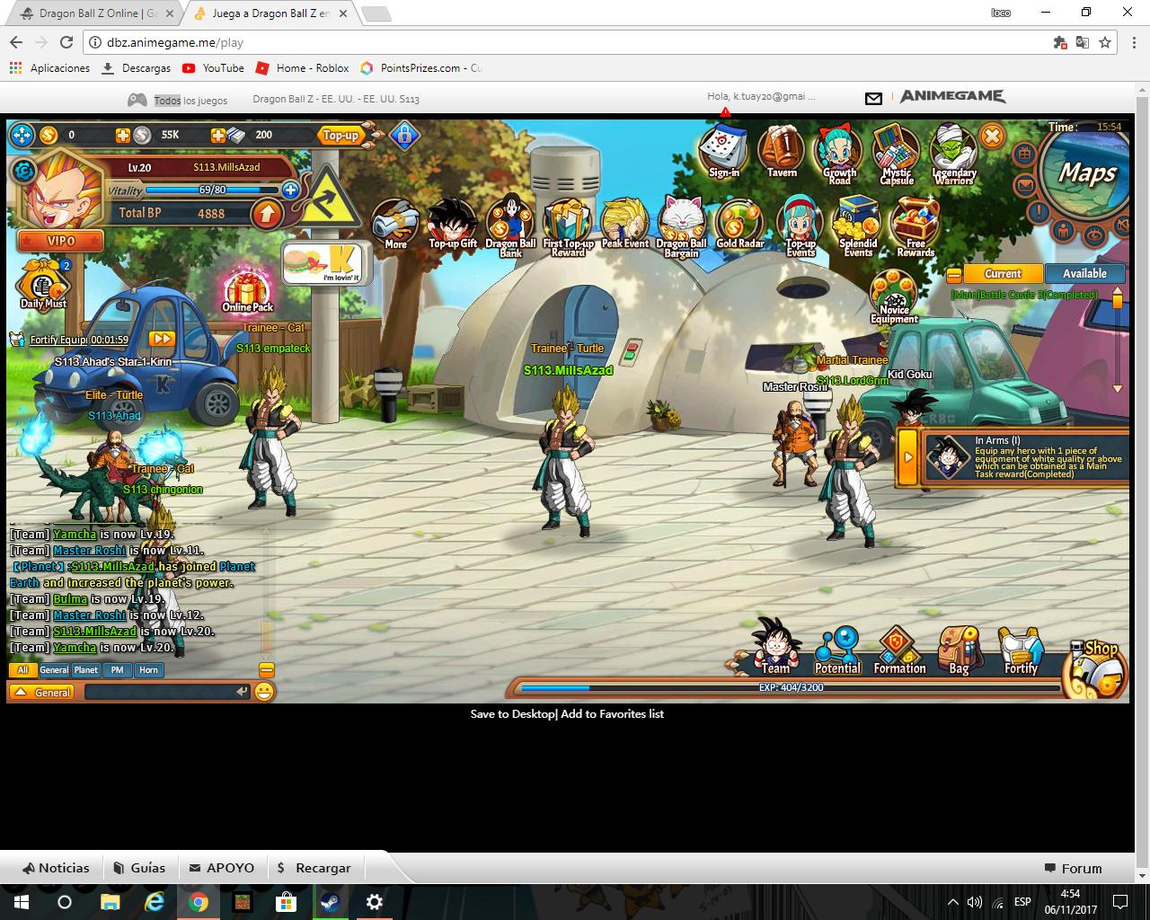 dragonball z online