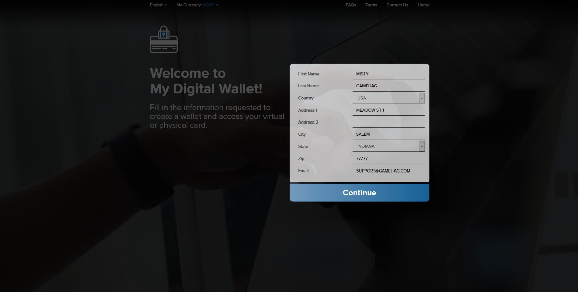 How do I activate my Visa® Prepaid Card USD?   Gamehag